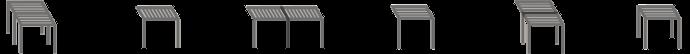 Grafik zu den einzelnen Kombinationen der Lamellendach Module