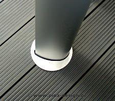 Mastfuss für Mast und Pylon Befestigung auf Holzterrasse