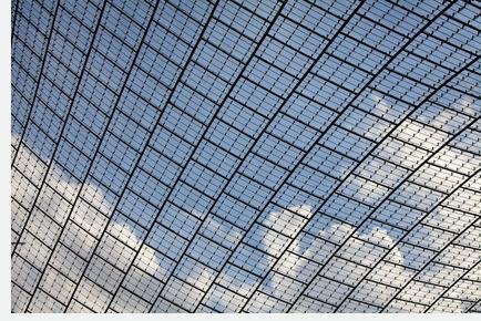 Dachkonstruktion des Münchner Olympiastadions