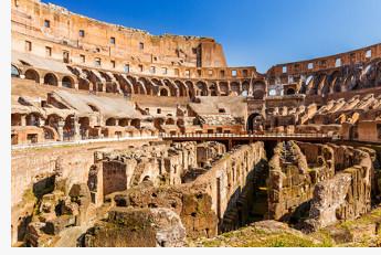 Schon der Querschnitt des Kolosseums lässt die gewaltigen Dimensionen des Sonnensegels erahnen, das dort für Schatten sorgte.