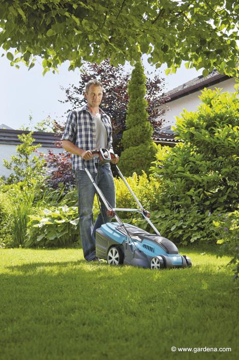 Gibt es Rasen, dann benötigen Sie einen Rasenmäher