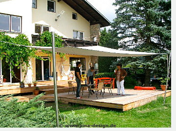 """Soliday """"A"""" Sonnensegel Prototyp in Schwanenstadt bei Herrn Balaz"""