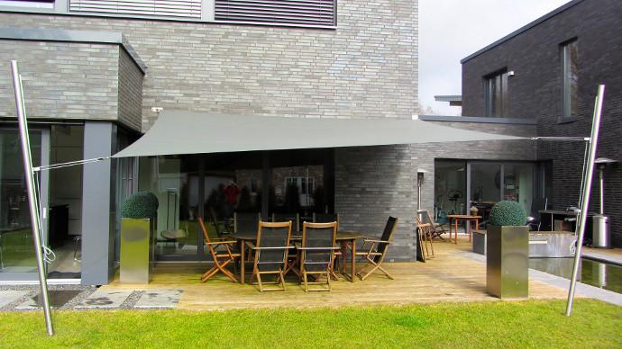 Sonnensegel Feststehend Und Höhenverstellbar | Pina Design ®