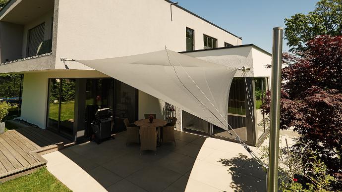 sonnensegel aufrollbar - der exklusive sonnenschutz | pina design ® - Sonnensegel Terrasse Sonnenschutz