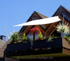 Sonnensegel für einen Balkon als Sonnenschutz