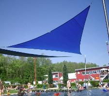 Sonnensegel für ein Freibad/ Schwimmbad zur Beschattung des Kinderschwimmbeckens