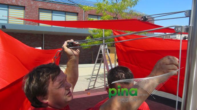 Sonnensegel Montage vom Fachmann Pina Design