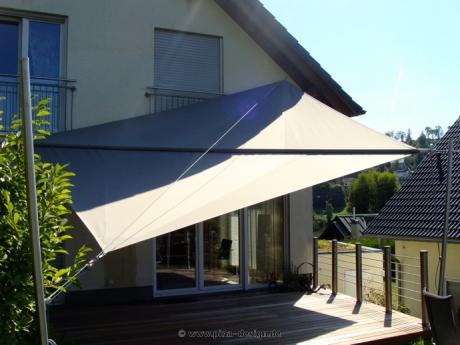 strukturelle Behinderungen fantastische Einsparungen feine handwerkskunst Sonnensegel manuell aufrollbar - flexibler Sonnenschutz ...