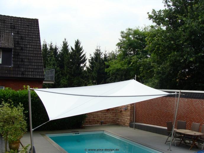 Sonnensegel pool luxus sonnenschutz pina design for Sonnenschutz teich