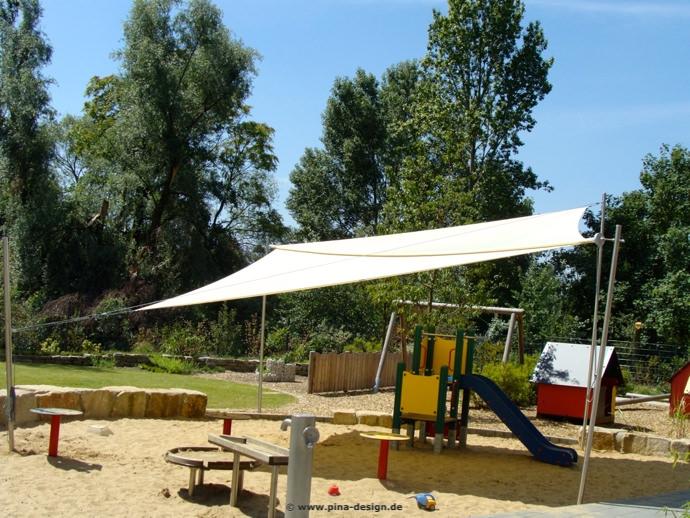 Sonnensegel Düsseldorf sonnensegel für kindergarten kita pina design