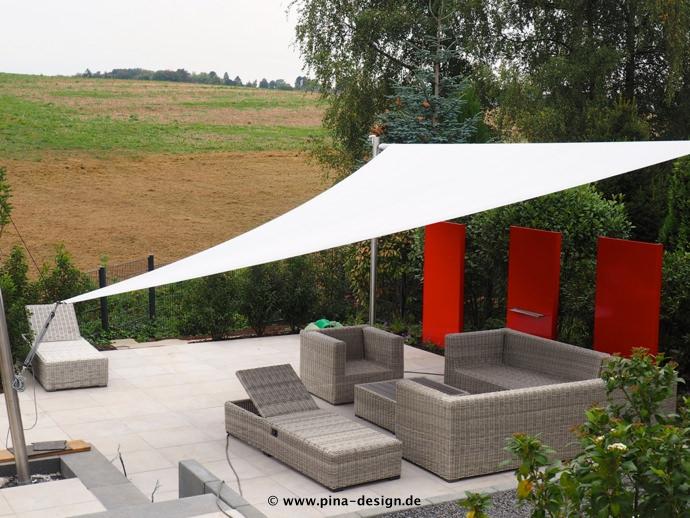Sonnensegel elektrisch Bilder - Beispiele und Lösungen | Pina Design®