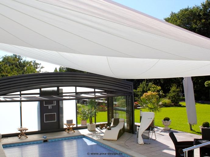 Dortmund Sonnensegel auf Terrasse über Pool