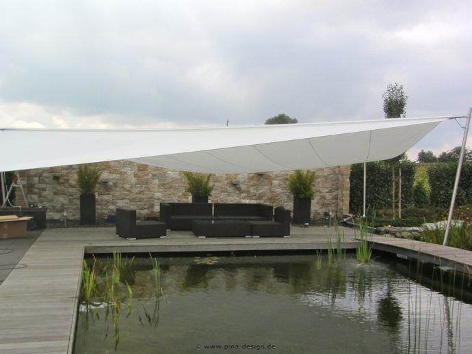 Nottuln - Sonnensegel am Pool