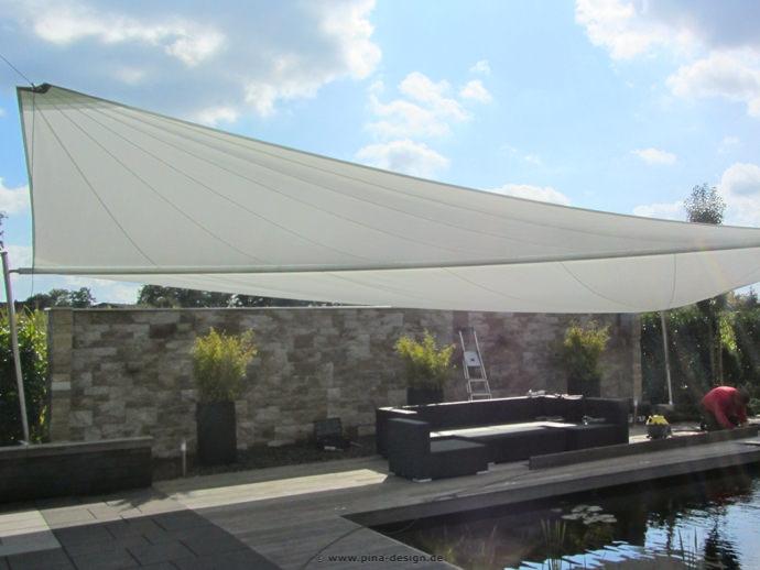 Nottuln - Sonnensegel am Pool auf Terrasse