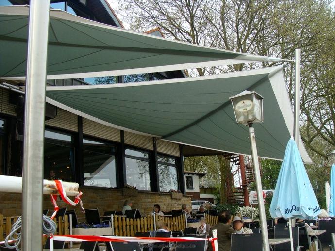 """Voerde """"Arche"""" Sonnensegel Restaurant Außenterrasse"""