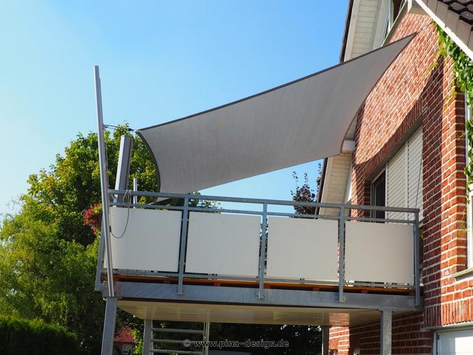 Sonnenschutz Balkon sonnensegel für den balkon in premium qualität pina design