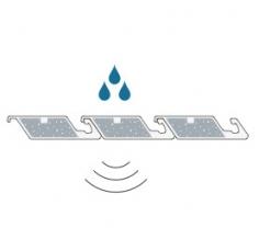 Schalldämmung für das Lamellendach