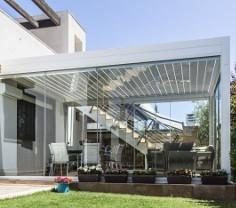 Seitenverglasung für Lamellendach