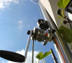 Kurbelmasten für Sonnensegel zum einfachen spannen und Hissen des Sonnensegels