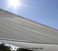 Sonnensegel wasserabweisend mit Nano, Lotusblütenbeschichtung