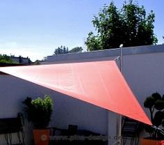 Wasserabweisende Sonnensegel aus Polyester für besten Sonnen- und Regenschutz