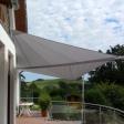 Sonnensegel manuell Büren 2M / 2W II. graues Segel über einen Balkon