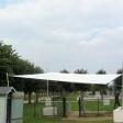 Xanten LVR-Archäologischer Park Sonnensegel auf Freifläche