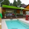 Sonnensegel elektrisch aufrollbar am Pool in Erfurt