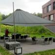 Essen – Sonnensegel Gartenterrasse als Unterstand auf einem Firmengelände