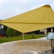 Langenfeld – Sonnensegel freiststehend auf Terrasse in Gelb