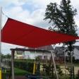 Sonnensegel feststehend Dortmund 4M III. rotes Segel über einen Spielplatz