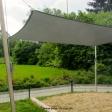 Sonnensegel feststehend Hessisch Lichtenau 4M I. graues Segel über eine Sandkasten