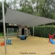 Sonnensegel feststehend Olfen 4M graues Segel über einen Spielplatz