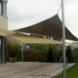 2 Sonnensegel feststehend Mühlheim an der Ruhr 2M / 1W gelbe Segel vor einem Haus