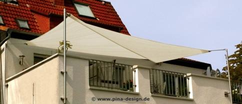 Sonnensegel Dachterrasse - Exklusiver Sonnenschutz | Pina Design® Sonnensegel Terrasse Sonnenschutz