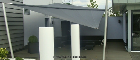sonnensegel terrasse sonne stilvoll genie en pina design. Black Bedroom Furniture Sets. Home Design Ideas