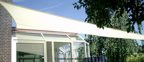sonnensegel wintergarten gegen hitze sonne pina design. Black Bedroom Furniture Sets. Home Design Ideas