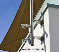 Wandhalterung zur Mast und Pylonbefestigung